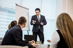 Бизнесмены встречая концепцию обсуждения конференции корпоративную, Стоковые Фото