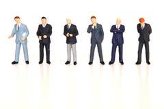 бизнесмены выровнянные вверх Стоковое фото RF