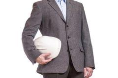 Бизнесмены в белом шлеме Стоковая Фотография