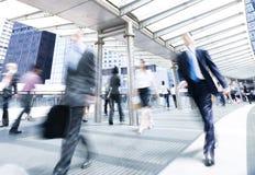 Бизнесмены в движении Стоковые Фотографии RF