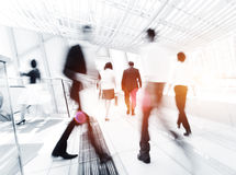 Бизнесмены в движении Стоковая Фотография