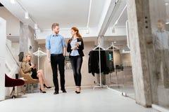 Бизнесмены в движении Стоковая Фотография RF