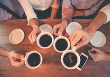 Бизнесмены в кафе Стоковая Фотография