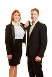 2 бизнесмены в команде Стоковое Фото