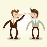 Бизнесмены говоря переговор иллюстрация вектора