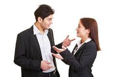 бизнесмены говоря 2 Стоковые Изображения