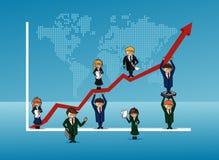 Бизнесмены графические Стоковое Изображение