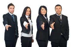 бизнесмены гребут приветствовать Стоковая Фотография RF