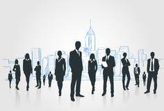 Бизнесмены группы Silhouettes предприниматели бесплатная иллюстрация