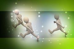 бизнесмены гулять Стоковая Фотография