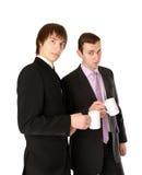 бизнесмены дела обсуждая 2 стоковая фотография