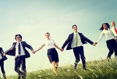 Бизнесмены держа концепцию рук совместно Outdoors Стоковая Фотография RF