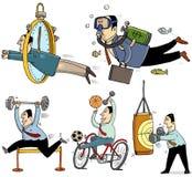 Бизнесмены делая спорт Стоковые Фото