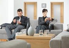 бизнесмены ждать Стоковое Изображение