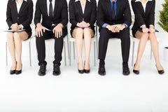 бизнесмены ждать интервью Стоковое Изображение