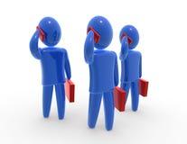 бизнесмены знонят по телефону 3 иллюстрация вектора