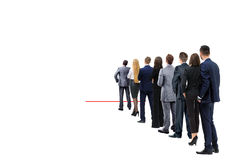 Бизнесмены изолированные на белизне Стоковая Фотография