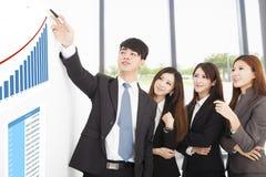 Бизнесмены имеют встречу маркетинга на офисе Стоковое фото RF