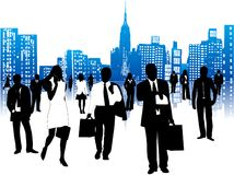 Бизнесмены и город Стоковое Изображение