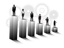 Бизнесмены и диаграмма Стоковое фото RF