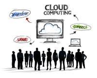 Бизнесмены и концепции облака вычисляя Стоковые Изображения