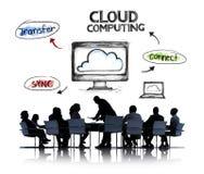 Бизнесмены и концепции облака вычисляя Стоковое фото RF