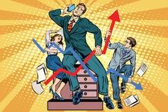 Бизнесмены и план-графики продаж бесплатная иллюстрация