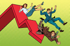 Бизнесмены и сброс давления женщины финансовый иллюстрация штока