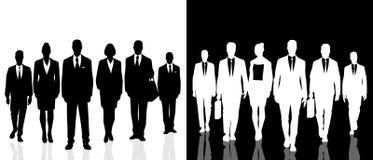 2 бизнесмены команд иллюстрация вектора