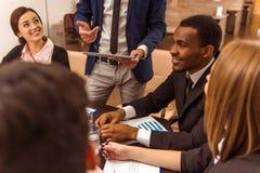 Бизнесмены конференции стоковые фотографии rf