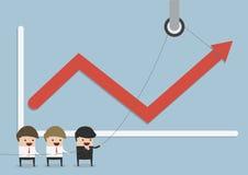 Бизнесмены находить для того чтобы увеличить доходы от бизнеса, сыгранность Стоковые Фото