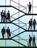 Бизнесмены на лестницах  Стоковое Изображение RF