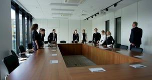 Бизнесмены на корпоративной встрече видеоматериал