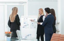 Бизнесмены на представлении в офисе Стоковые Изображения