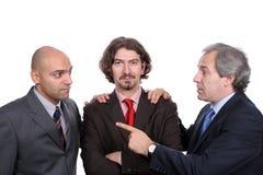 бизнесмены обсуждая новый проект Стоковая Фотография RF
