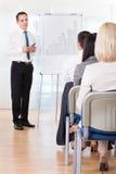 Бизнесмены обсуждая новый проект Стоковые Изображения