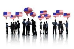 Бизнесмены обсуждая о США Стоковая Фотография RF