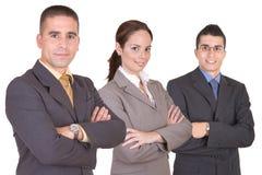 бизнесмены объениняются в команду детеныши стоковое фото
