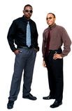 бизнесмены представляя усмехаться Стоковые Изображения RF