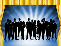 Бизнесмены представляют профессиональные исполнительную власть и команду иллюстрация штока