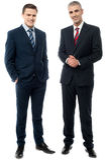 Бизнесмены представляя в стиле Стоковые Изображения RF