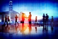 Бизнесмены работая занятая концепция дела дела Стоковое Изображение RF