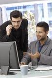 Бизнесмены работая с компьютером Стоковая Фотография RF