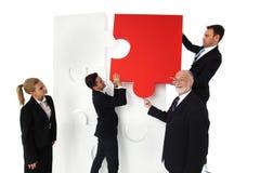 Бизнесмены разрешая проблемы Стоковое Изображение RF