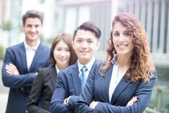 Бизнесмены руки пересеченной командой Стоковая Фотография RF