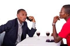 2 бизнесмены сидя на ресторане стоковое фото rf