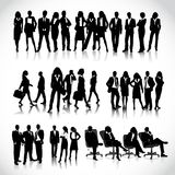 Бизнесмены силуэтов Стоковые Изображения RF