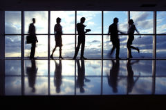 бизнесмены силуэтов Стоковое Фото