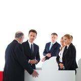 Бизнесмены собирая головоломку Стоковое Изображение RF
