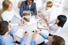 бизнесмены совместно работая Стоковая Фотография RF